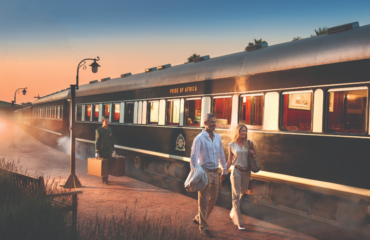 Couple Pride of Africa train